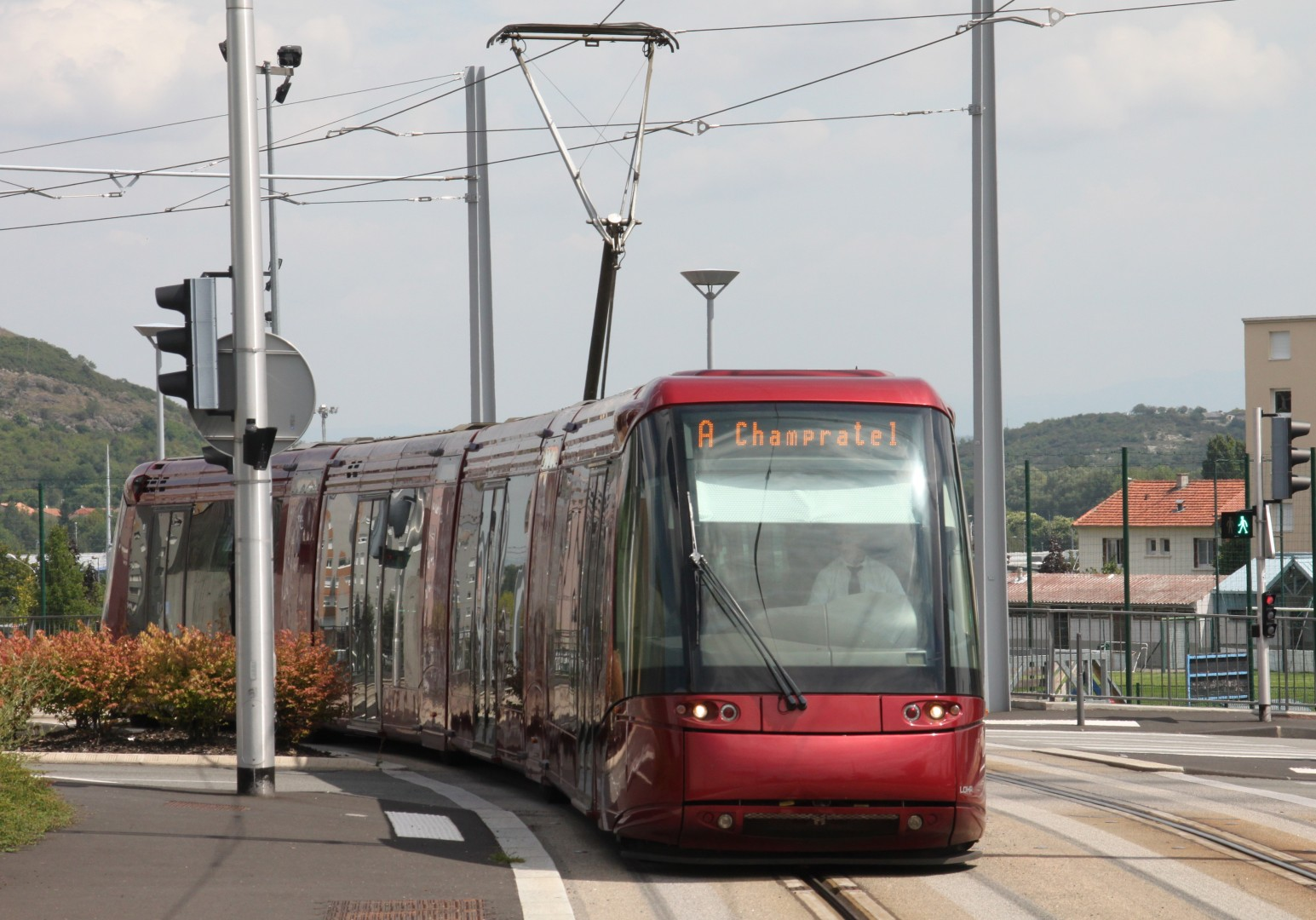 Tranvía Translohr de Clermont-Ferrand. Foto: Maurtis90.