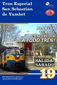 Afiche del Expreso del Recuerdo a Concepción. Imagen: ACCPF.