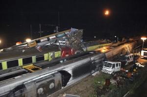 Vista del lugar del accidente. Foto: Sérgio Azenha vía Público.pt