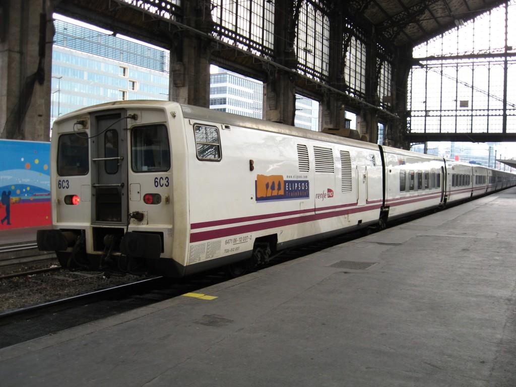 La imagen de un Talgo de Renfe en París-Austerlitz pasará a la historia el 13 de diciembre, cuando cesen los Trenhotel a París. Foto: Smiley.toerist.