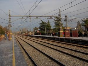 Nuevos andenes provisionales de la estación de Torrejón de Ardoz. Foto: CARLOS123456