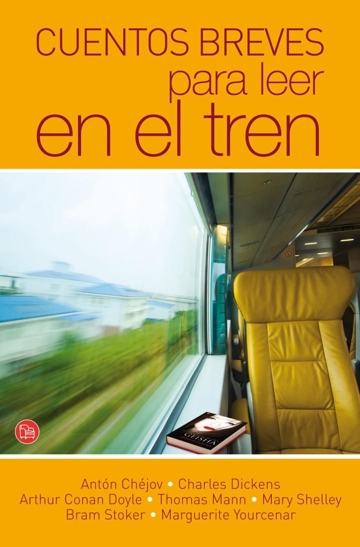 Portada de Cuentos breves para leer en el tren. imagen: Punto de lectura.