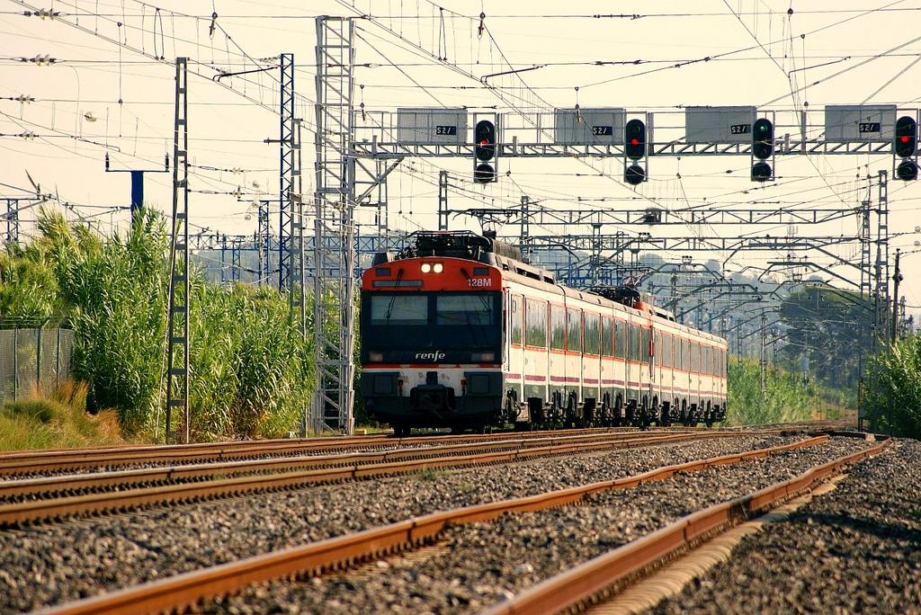Tren de Renfe de la serie 470, similar al que se usa para el Tren Medieval 2014. Foto: Luis Zamora.