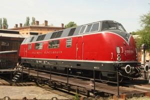 Locomotora alemana V200 diesel-hidráulica en el Museo Técnico Alemán en Berlín. Foto: Matthew Black.