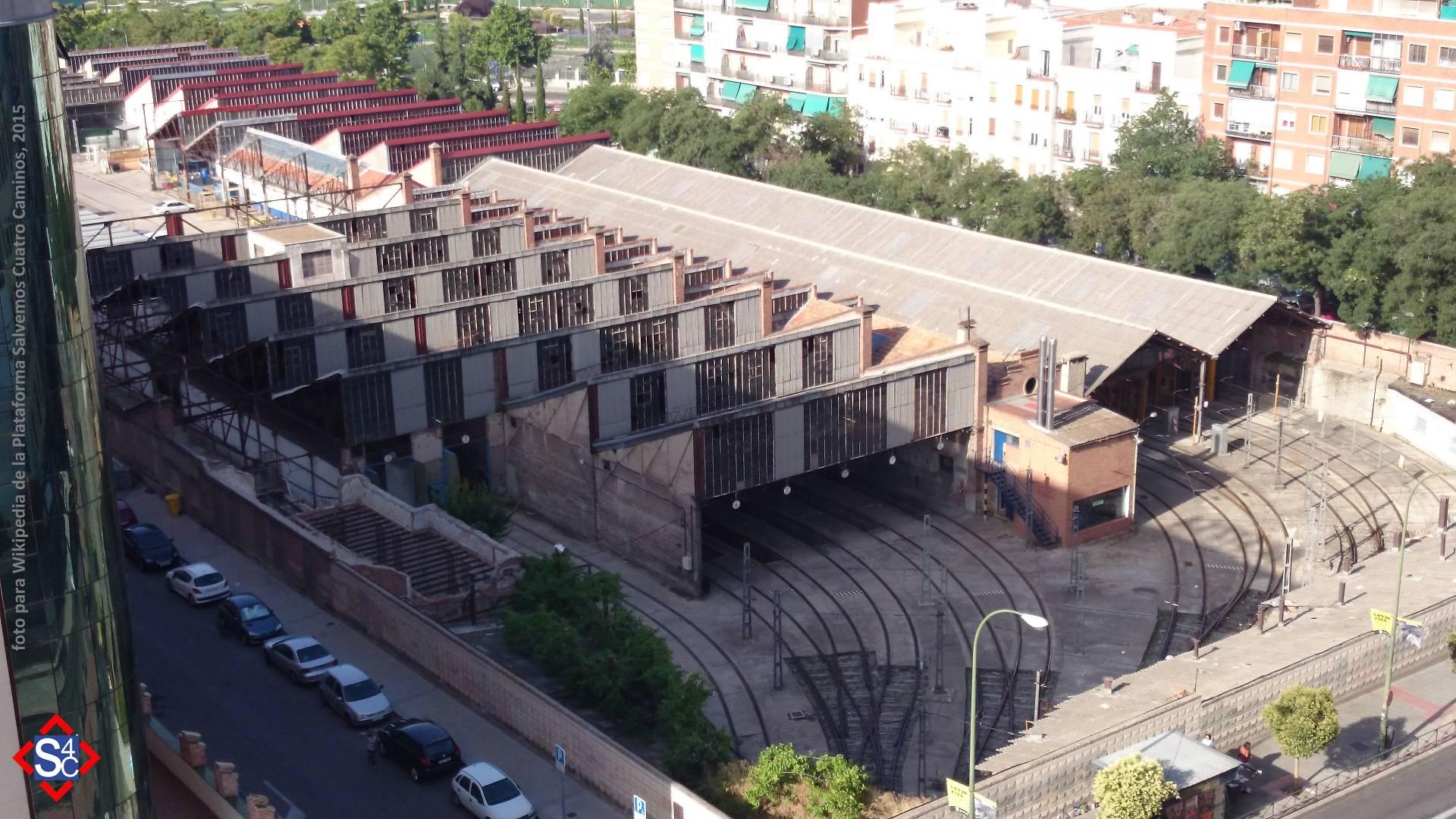 La sombra de la especulación urbanística amenaza a las históricas cocheras de Cuatro Caminos, que aún pueden ser salvadas y convertirse en un Museo del metro. Foto: Salvelos Cuatro Caminos.