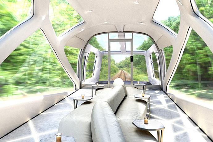 Las salas de observación del Tren Crucero permiten al viajero disfrutar del paisaje.