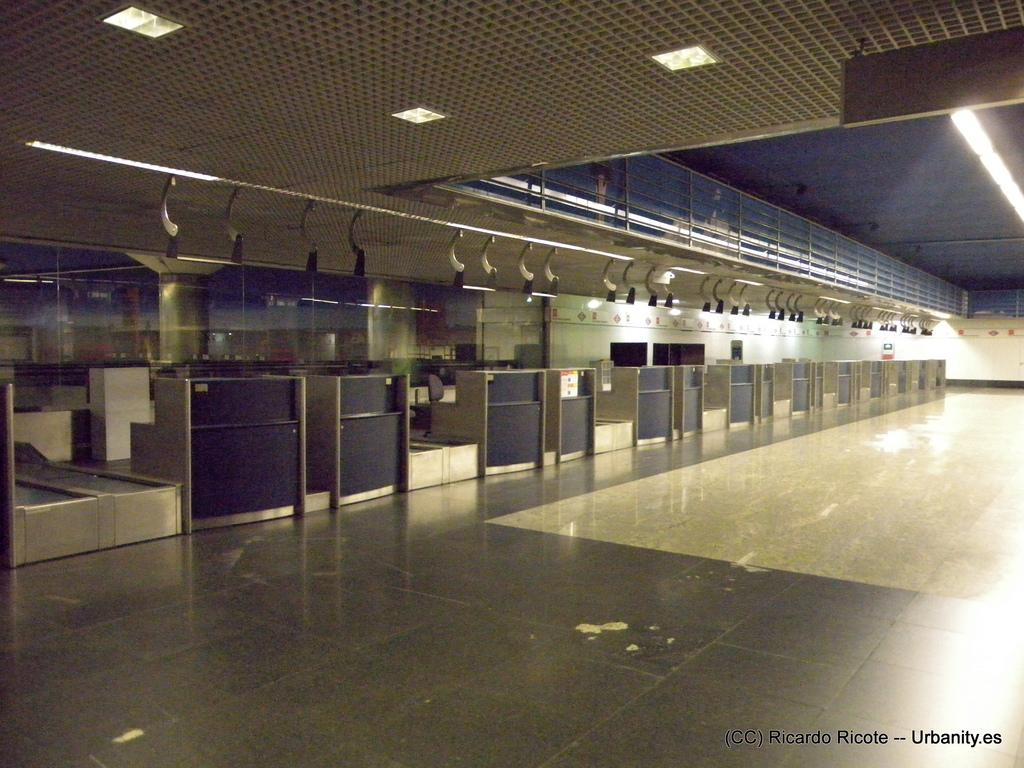 El centro de facturación de equipajes de Nuevos Ministerios sólo estuvo operativo durante 4 años.
