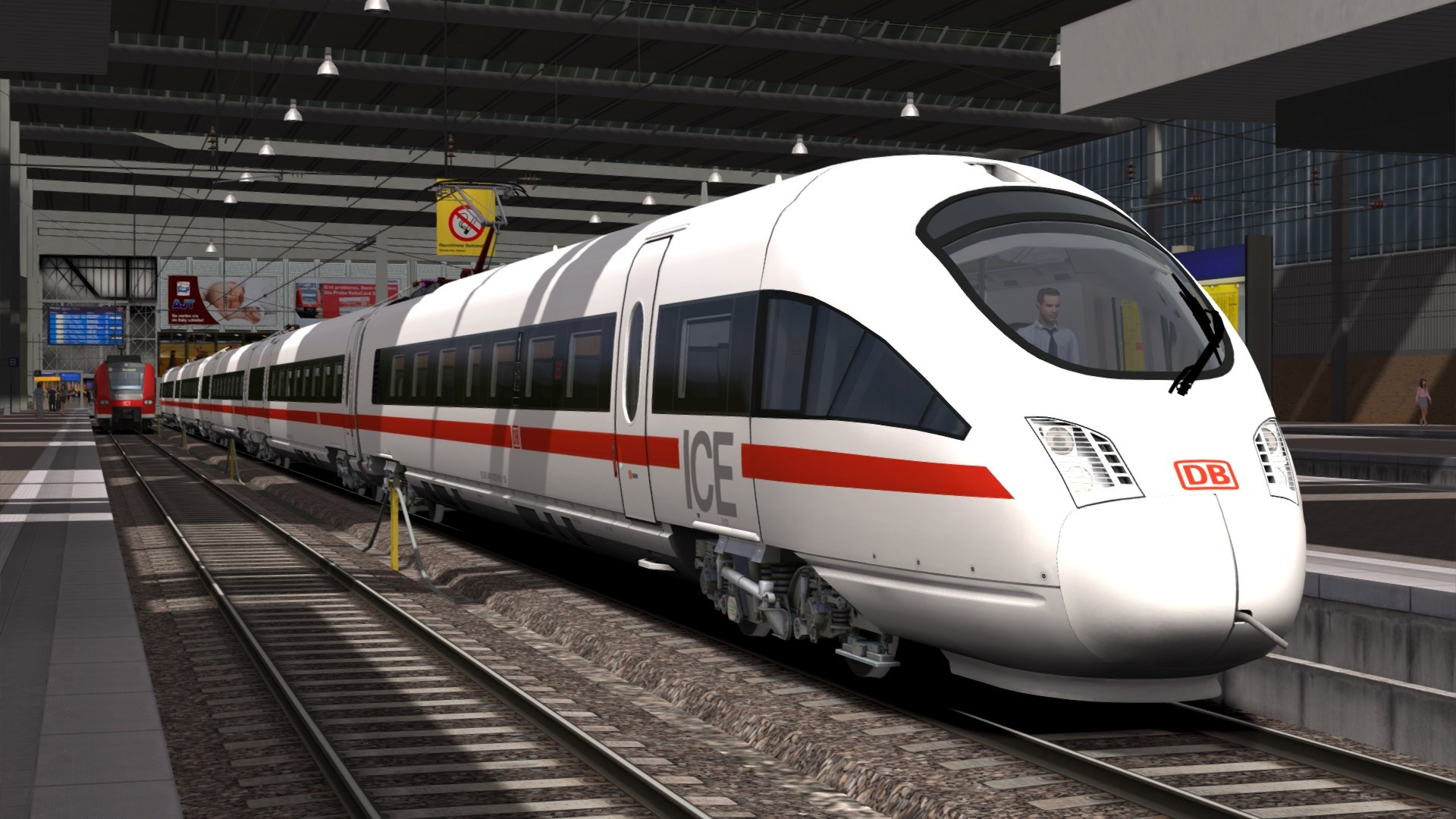 Vista exterior del ICE T de la Deutsche Bahn en Train Simulator 2015. Imagen © Dovetail Games 2013.