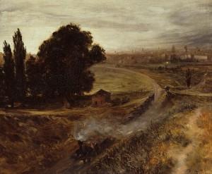 dam a Berlín, de Adolph von Menzel, es la primera representación pictórica alemana del ferrocarril.