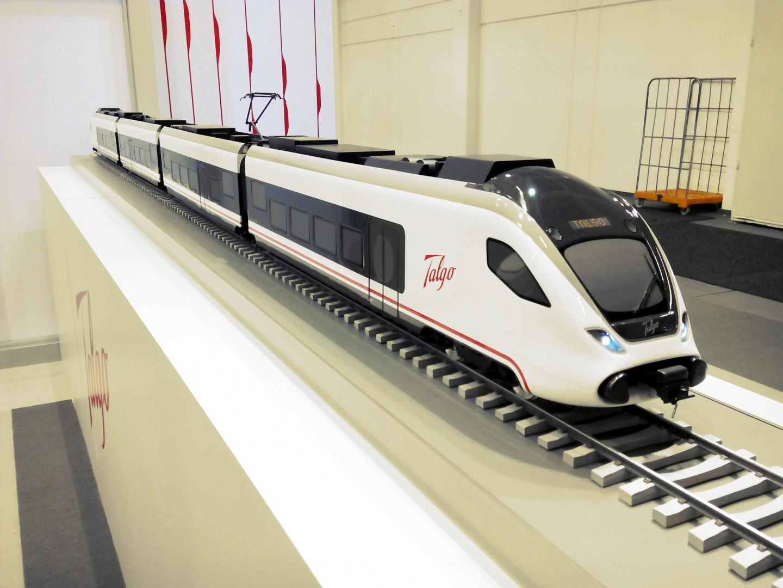 Maqueta del nuevo tren de Cercanias y Media Distancia de Talgo presentada en Innotrans 2014. Foto: Miguel Bustos.