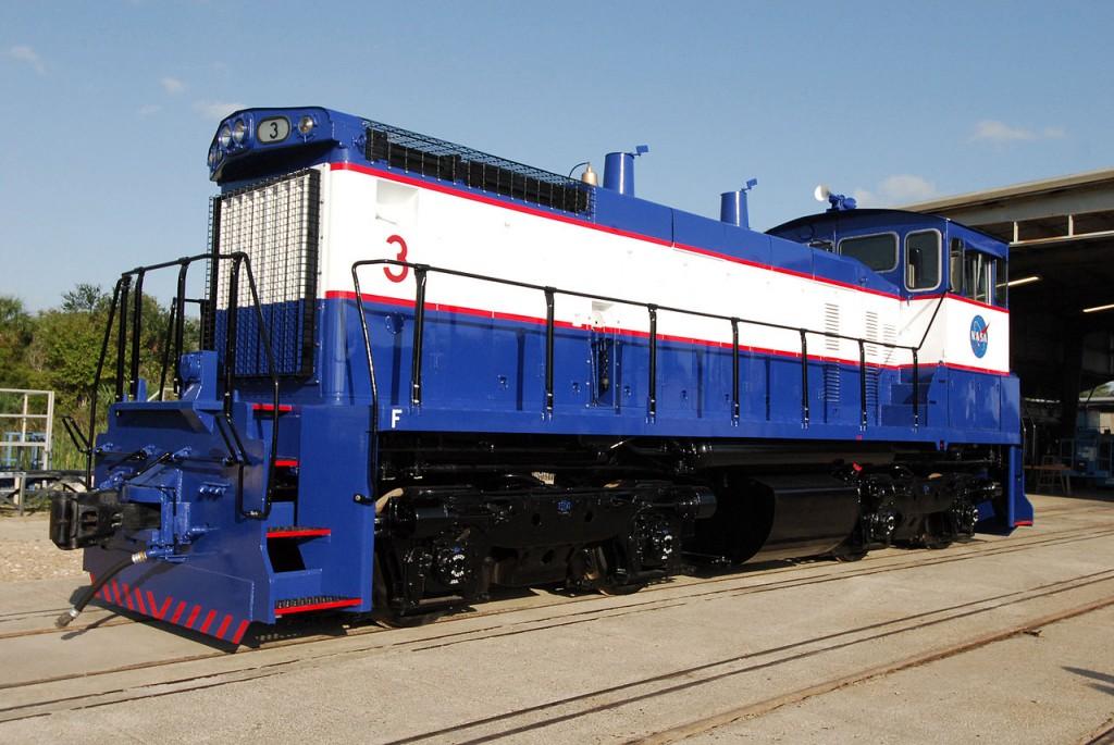 En imagen, una de las tres locomotoras EMD SW1500 de General Motors que se usaban hasta 2011 y la clausura del tren de la NASA.
