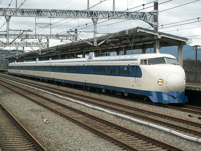 Una de las unidades de la llamada serie 0 del tren bala japonés.