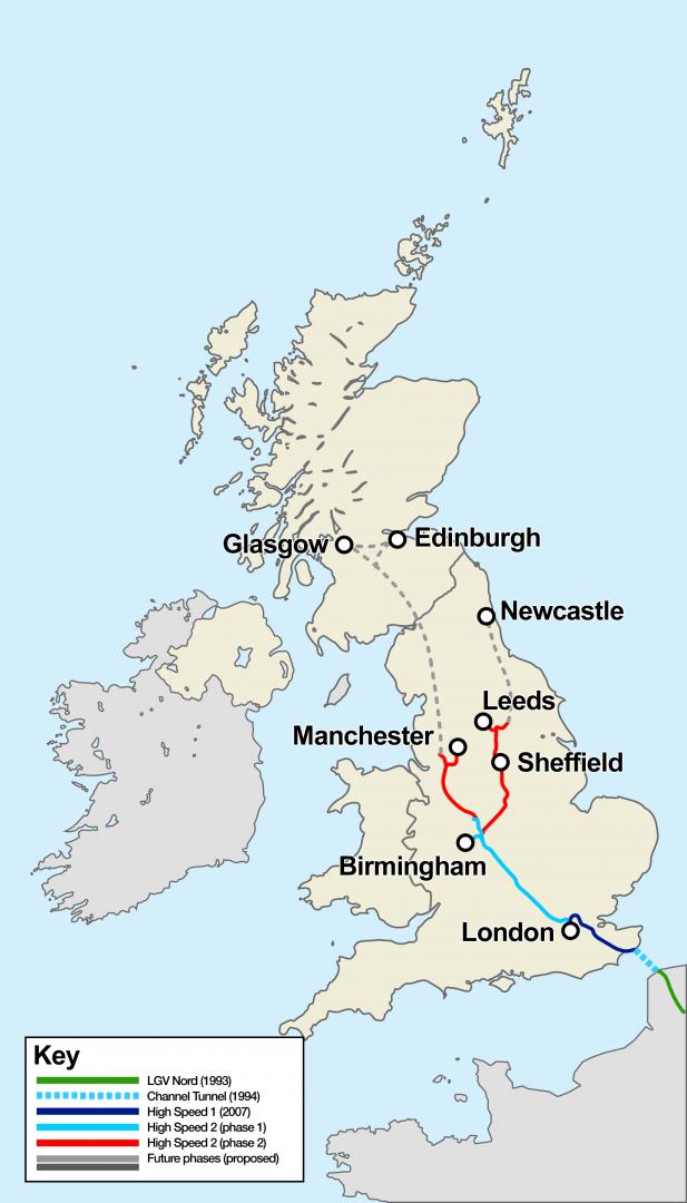 Resultado de imagen de línea de alta velocidad (HS2) que unirá Londres con Manchester y Leeds