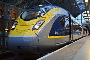 Imagen de la presentación oficial del nuevo Siemens e320 para Eurostar.