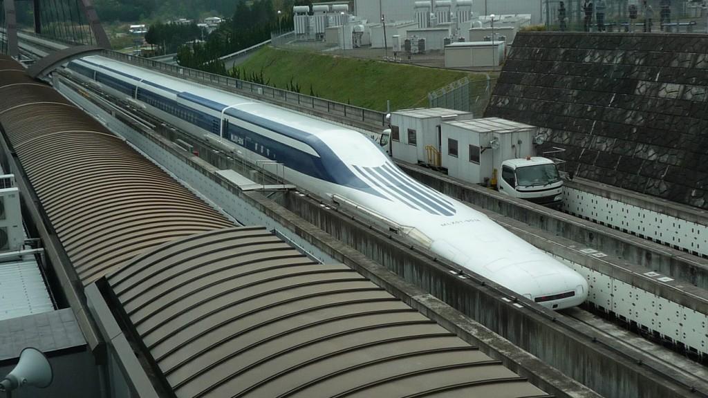 Se trata del primer contacto del tren bala maglev con los viajeros.