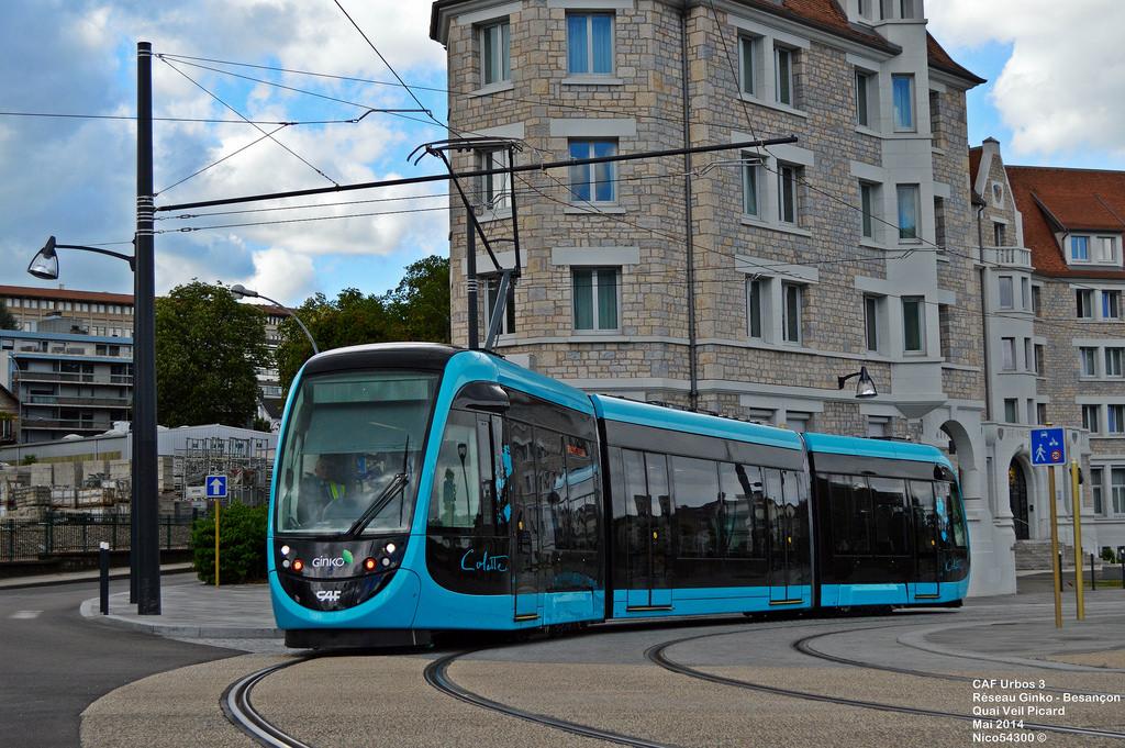 Los tranvías de CAF ya están presentes en otras ciudades francesas como Bresanon o.