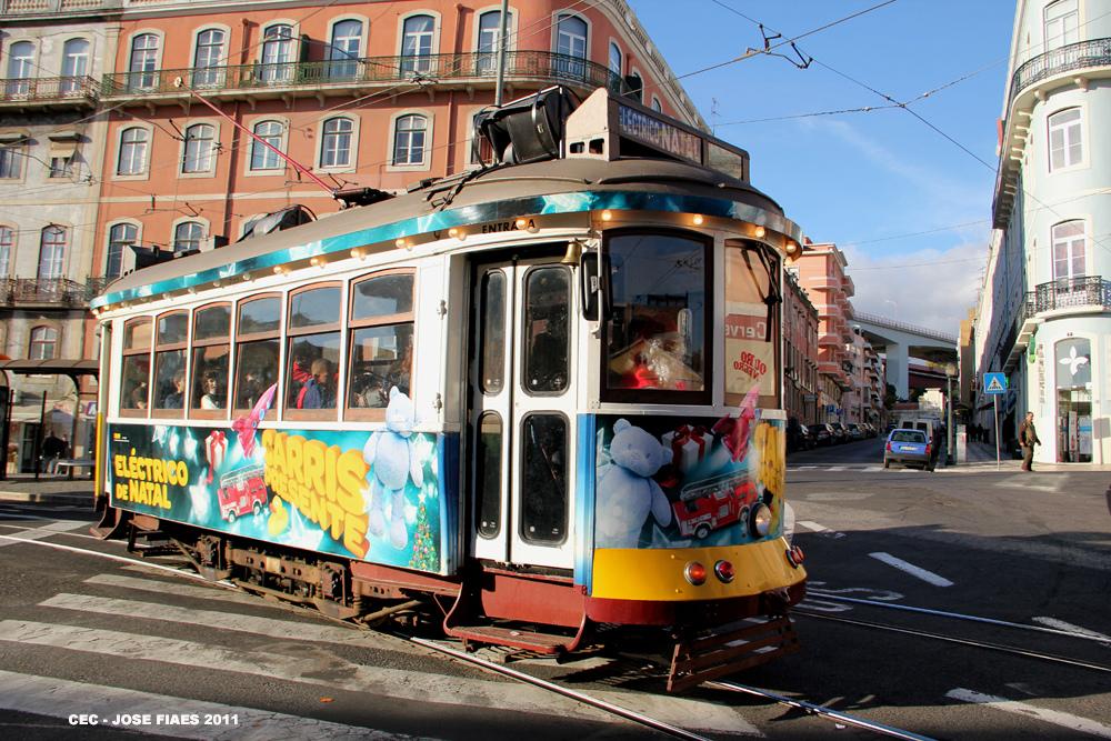 No es el primer año que el transporte de Lisboa realiza actividades especiales con la llegada de la Navidad.