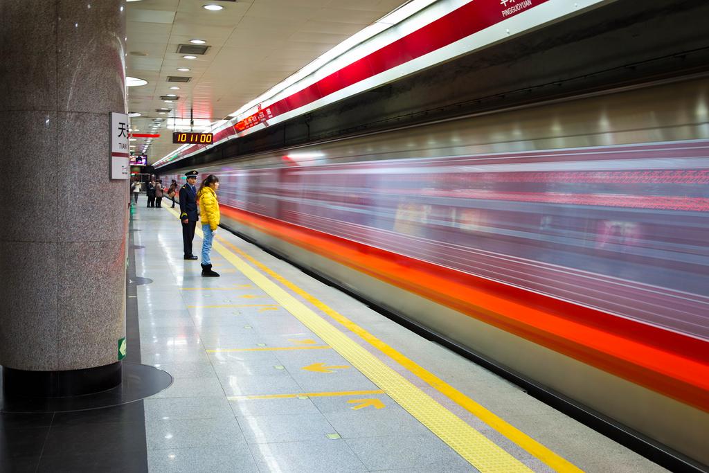 El metro de Pekín trata de fomentar la lectura con esta iniciativa pública. Fuente: Shawn Clover.