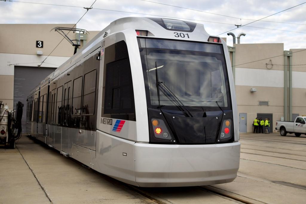 Imagen de uno de los tranvías de CAF para la ciudad de Houston. Foto: Brett Coomer / Houston Chronicle vía Chron.