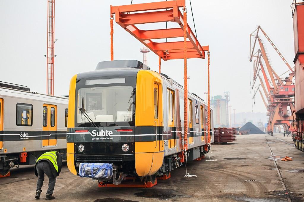 Uno de los coches de CNR que formará parte de los trenes de Subte. Foto cortesía de Subte.