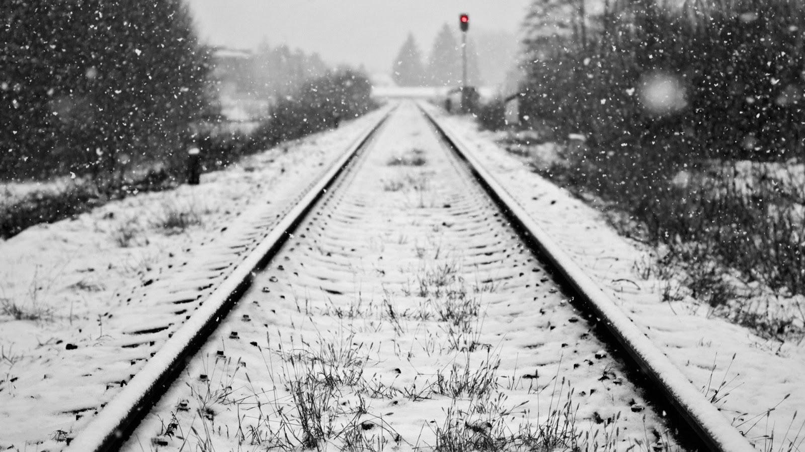 Las vías del norte se han visto cubiertas de nieve durante la pasada semana. Foto: Imágenes horabuena.