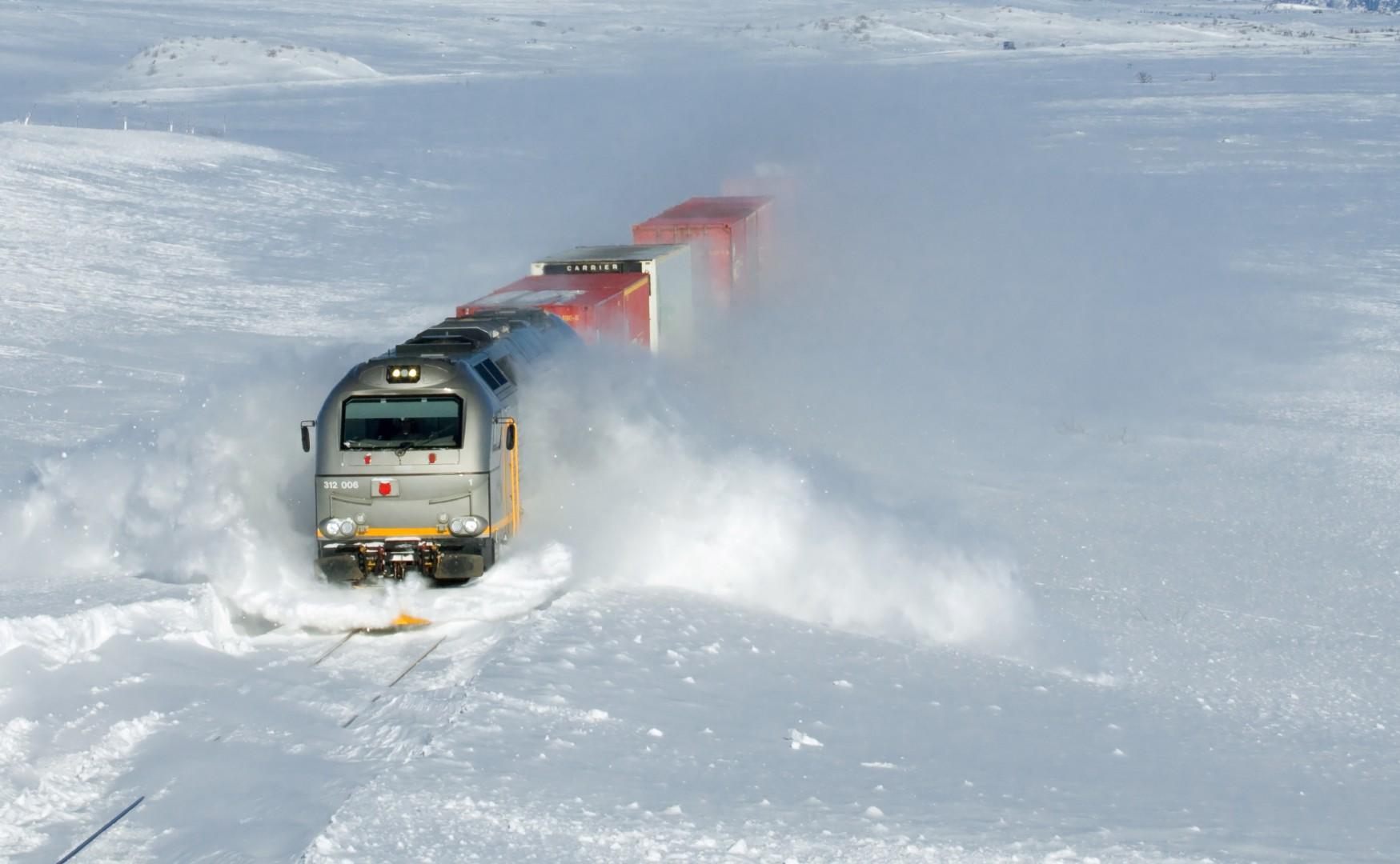 Una excesiva cantidad de nieve es un motivo para circular marcha a la vista. Foto: David Gubler.