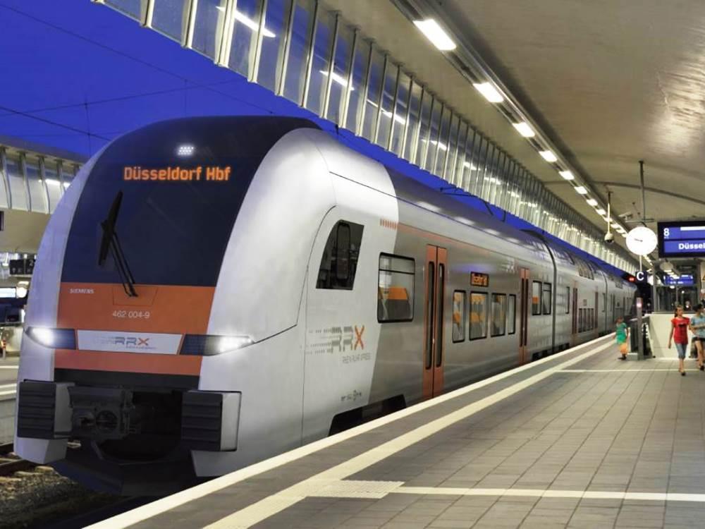 Imagen del Desiro que Siemens ha diseñado para la red Rin Ruhr Express. Foto: The Railway Gazette.