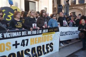 La asociación AV3J ha sido una de las grandes impulsoras de la reapertura del juicio por el accidente de Metrovalencia. Foto: Gloria Martínez.