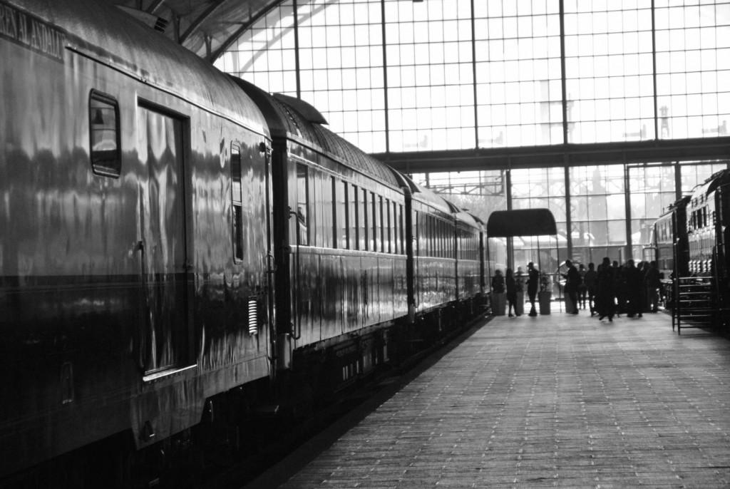 El tren estacionado en la vía 3 de Delicias. Foto: Alberto de Juan.