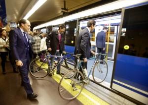 Más facilidades para las bicicletas en Metro de Madrid. Foto: Metro de Madrid.