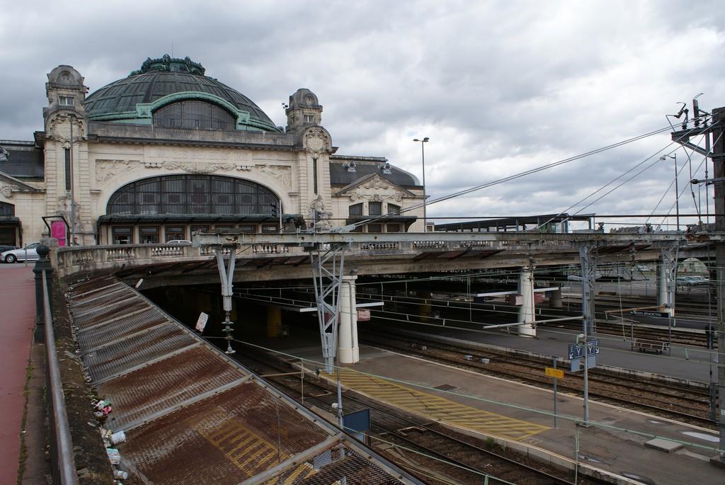 La estación de Limoges Bénédictins es aún ahora uno de los puntos más importantes del transporte de la ciudad francesa. Foto: David Martín.