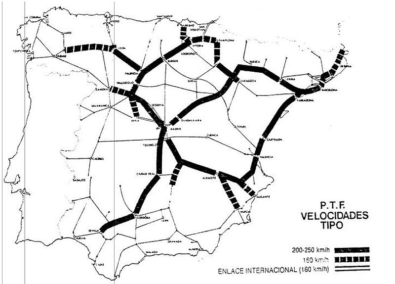 Plan de Transportes Ferroviarios de 1987, el germen de la red de alta velocidad.