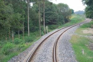 El ancho ibérico no fue adoptado hasta 1955, tras firmarse un acuerdo entre RENFE y CP. Foto: Alberto de Juan.