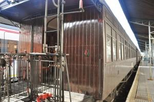 El Tren de la Fresa 2015 estacionado en Aranjuez.