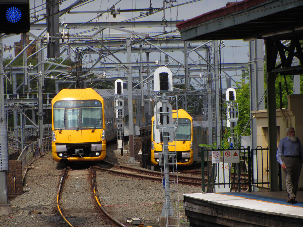 Los trenes de Sídney incorporarán la tecnología Mousetrap para luchar contra los grafitis. Foto: Len Matthews.
