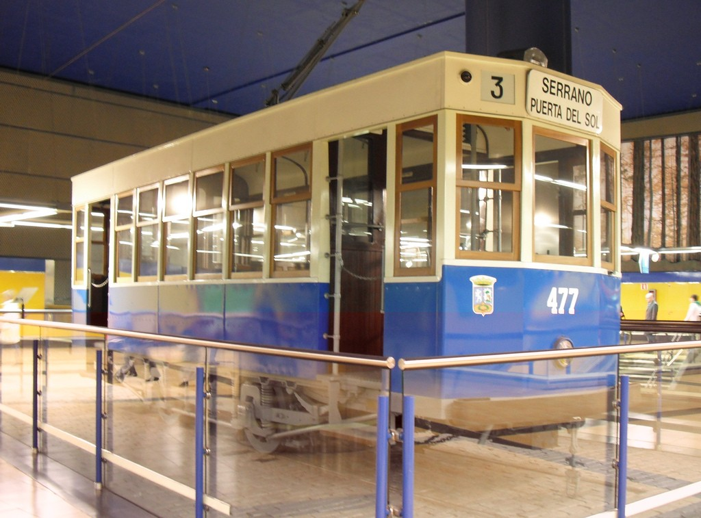 Tranvía expuesto en la estación de metro de Pinar de Chamartín. Foto: M.Peinado.