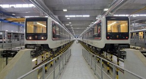 Imagen de los trenes que circularán en la línea C del metro de Roma. Foto: Corriere della Sera.