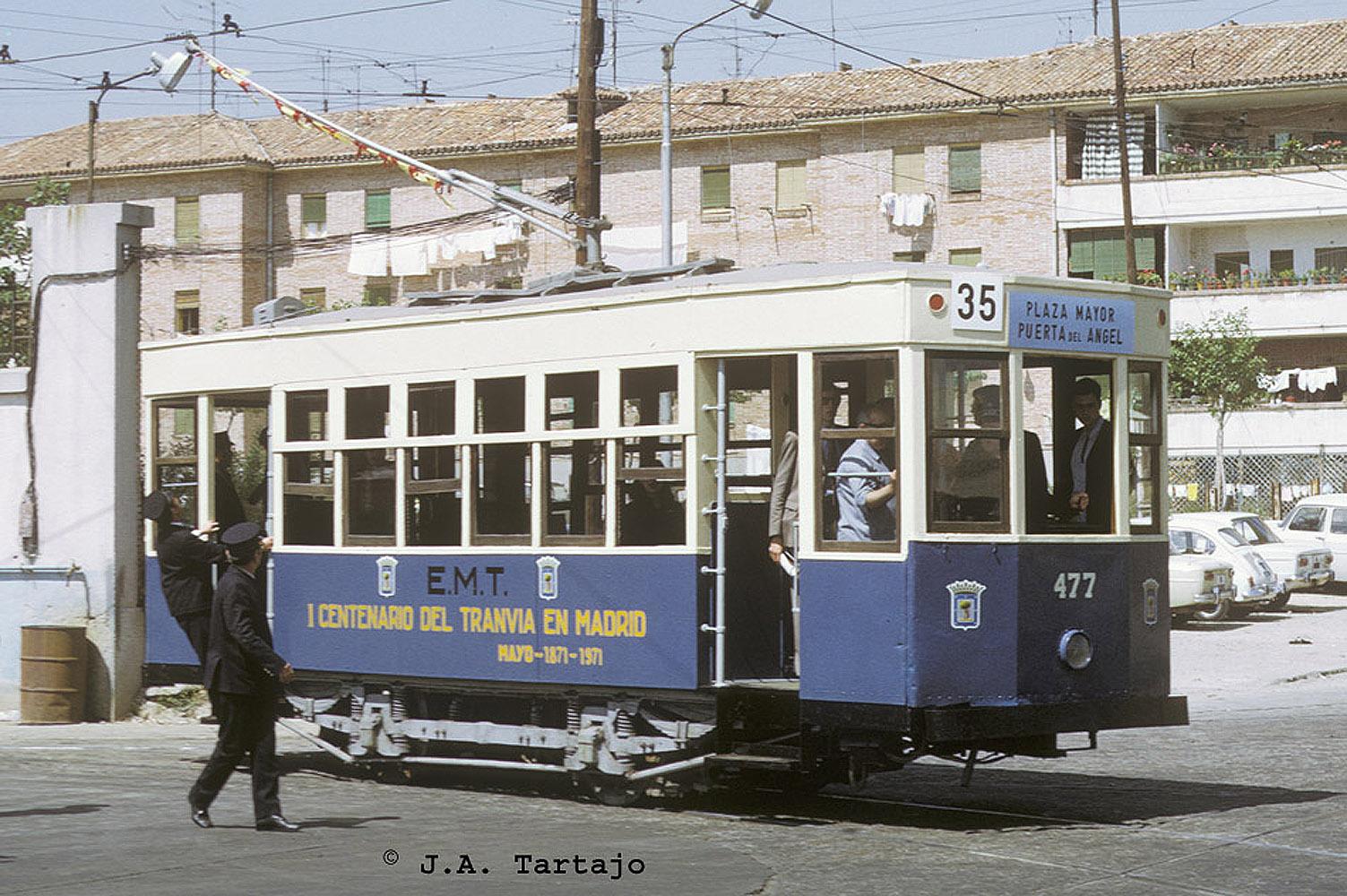 Los tranvías de Madrid estuvieron en funcionamiento 101 años y 1 día.