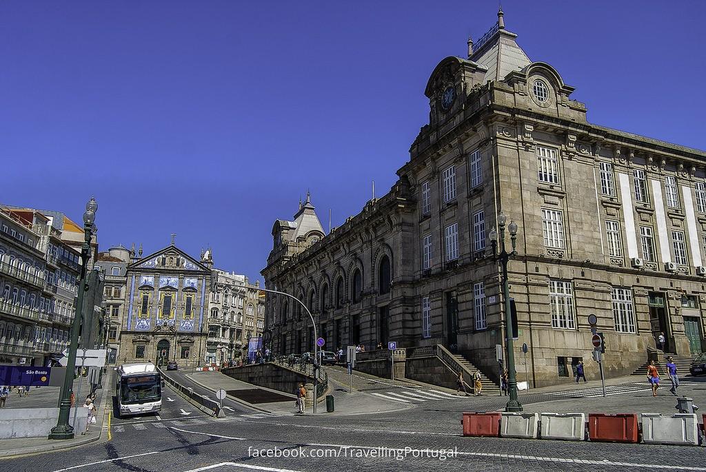 Facheda de la estación de São Bento. Foto: Turismo en Portugal.