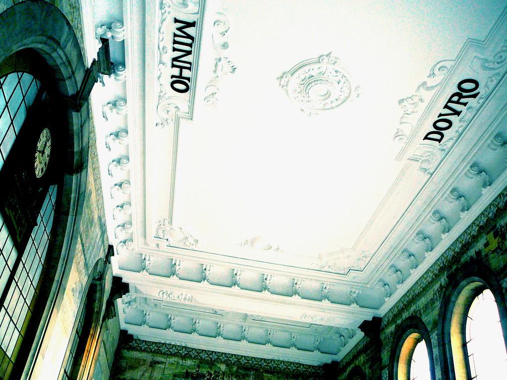 Mirar al techo en la estación de São Bento también es un placer. Foto: Flavia Soprani.