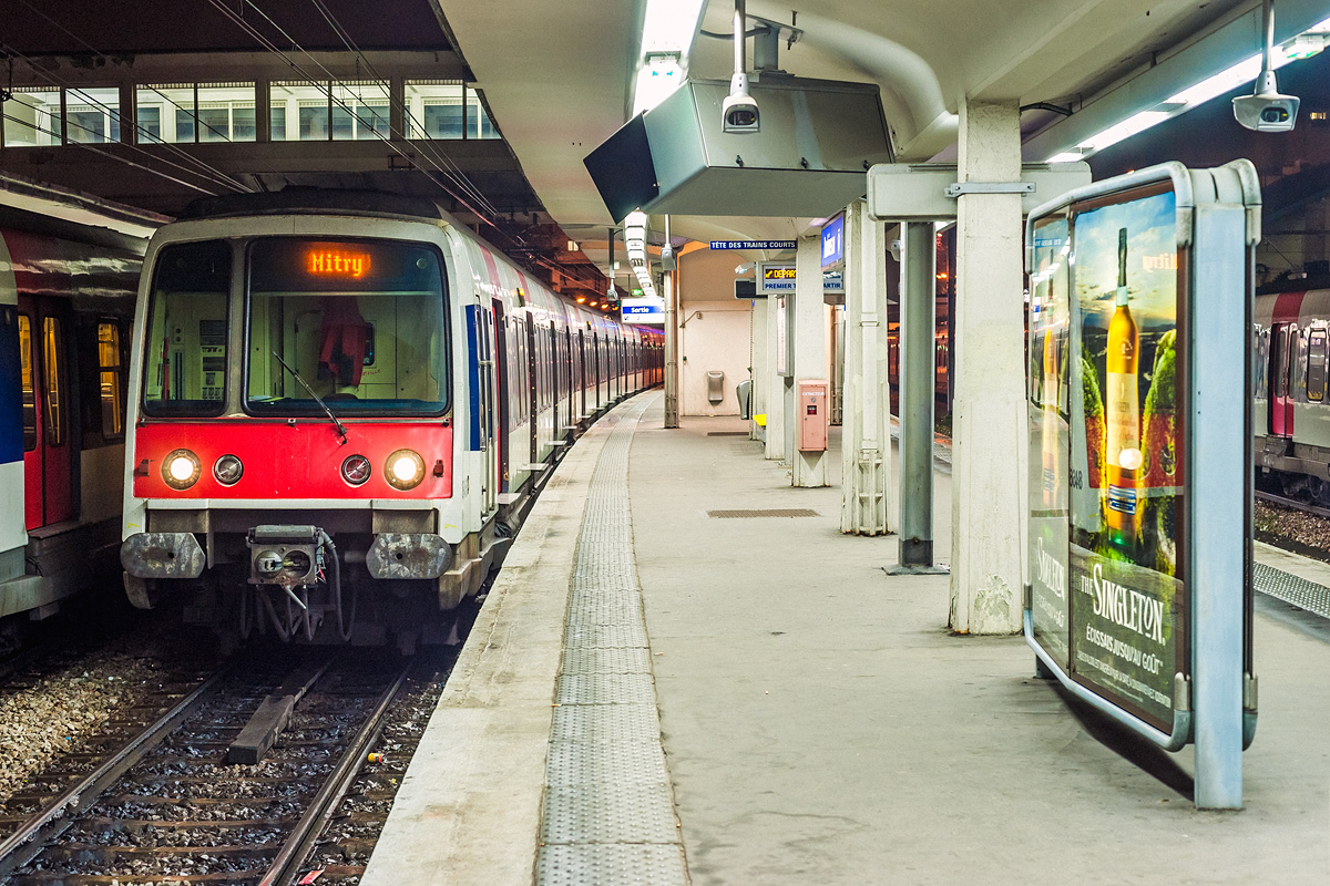 Los trenes MI 84 que prestan servicio en la RER A serán dotados de ATO. Foto: Renaud CHODKOWSKI.