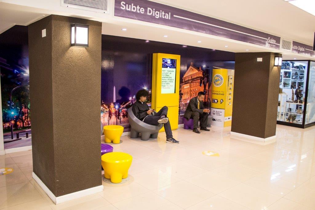 En imagen, uno de los espacios WiFi instalados en la red. Foto: Subte de Buenos Aires.