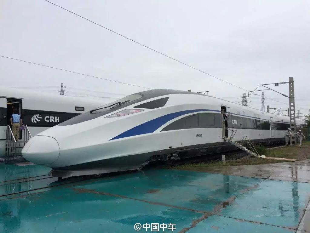 El pasado 30 de junio se desvelaron los prototipos de TAV 100% chino. Foto: People.cn.