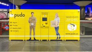 Imagen de una de las consignas automáticas instaladas en Metro de Madrid. Foto: Metro de Madrid.