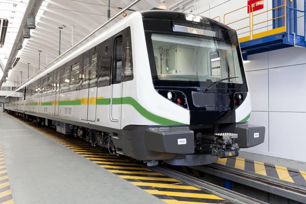 Una de las unidades entregadas anteriormente al metro de Medellín. Foto: ©CAF.