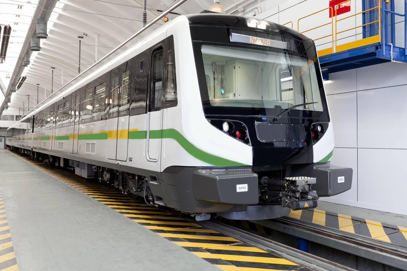 Una de las unidades entregadas anteriormente al metroo de Medellín. Foto: ©CAF.