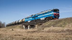 Las locomotoras 2TE116, en el centro del escándalo ferroviario de los países bálticos. Foto: Kuknauf.