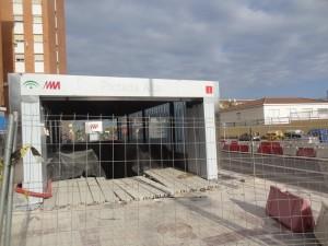 La construcción del metro de Málaga ha estado marcada por los continuos retrasos. Foto: Tiago Rolinho.