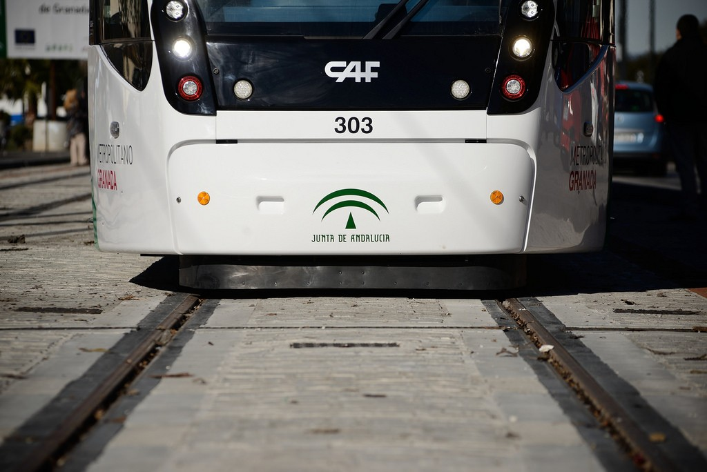 Vuelven las pruebas dinámicas del metro de Granada. Foto: Delegación de Gobierno de la Junta de Andalucía.
