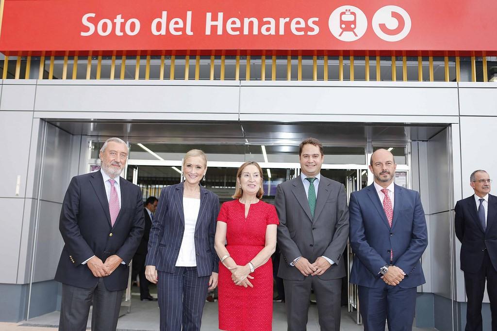 Foto de la inauguración oficial de la estación de cercanías Soto del Henares. Foto: Cristina Cifuentes.
